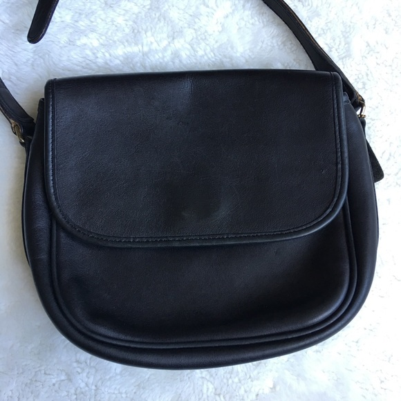 951c684ed0 Coach Handbags - Vintage Coach Legacy Black Leather Flap Crossbody